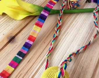 Cheerful collar Miss lace, tassels and metal