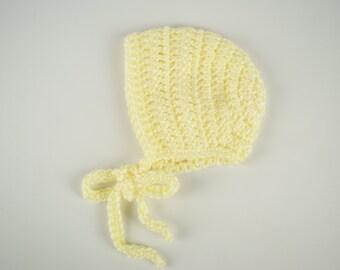 Simple Baby Bonnet-Yellow