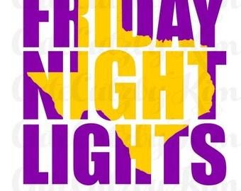 Friday Night Lights Texas Football Svg