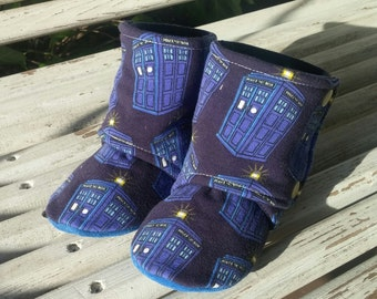 18-24m ~ Dr. Who ~ Schnookie's High Top Soft Soled Shoes