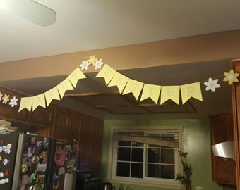 HAPPY EASTER GARLAND-Flowers Garland--15 Feet Long--Any Color