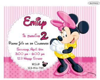 50% OFF - Minnie Invitation, Minnie Birthday Invitation, Minnie Party Invitation Printable, Minnie Invitation, Minnie Invite, Minnie Mouse
