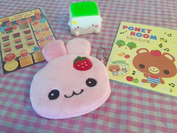 Squishy Bunny Etsy : Kawaii Lot : stickers tofu squishy letter set & by SellingCuteness