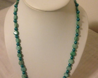 Aqua Pearl Necklace