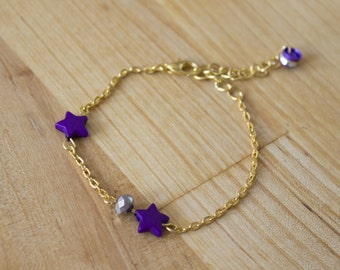 Handmade bracelet or ankle with charms