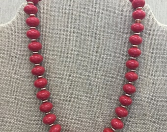 Women's Jewelry, Necklace, Necklaces, Women's Necklaces, Vintage Necklaces, Beaded Necklace, Beaded Necklaces, Red Beaded Necklace