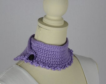 Crochet Lilac Neck Warmer