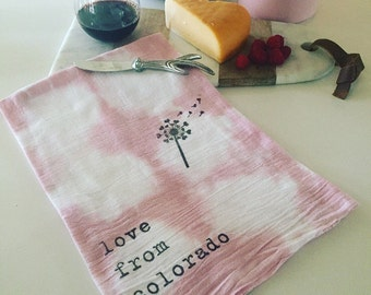 Kitchen Tea Towel: love from colorado