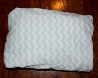 Mint Chevron Fitted Crib Sheet Gender Neutral Nursery Boy Nursery Girl Nursery
