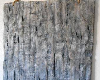 Colorado Silver Bark Modern Abstract Textured Original Art Handmade Painting