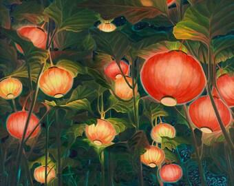 Q Chinese Lanterns Print (unframed)