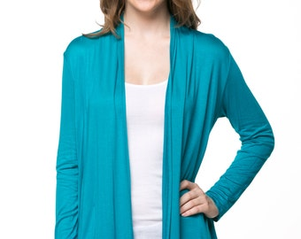 Teal Open Cardigan