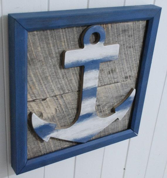 Etsy Coastal Wall Decor : Items similar to beach ships anchor nautical wall art sign