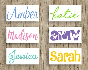 Vinyl Name Decal- Name Sticker- Monogram Sticker- DIY Monogram - 38 vinyl color options