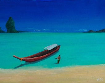 Thailand memories, original oil painting