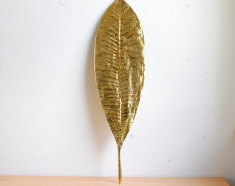 Oversized Hollywood Regency Gold Leaf