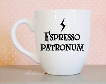 Harry Potter mug, espresso patronum, Harry Potter coffee Mug, large coffee mug, Harry Potter, Mug,  espresso patronum mug, tea mug,