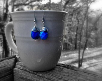 Wire Wrapped Turquoise Teardrops! :)