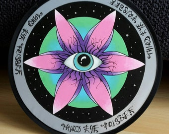 Third Eye Frisbee - Hand painted