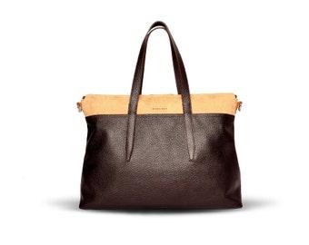Handmade  handbag of natural leather - Indre B