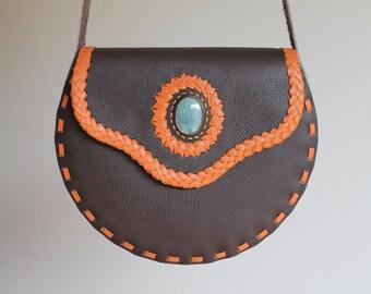 Leather bag, Crossbody bag, Shoulder bag, Genunine leather bag, Messenger bag, Hand bag, saddle bag