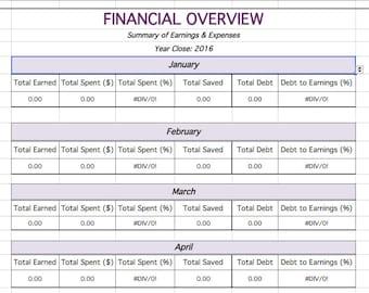 Make It Count Financial Spreadsheet