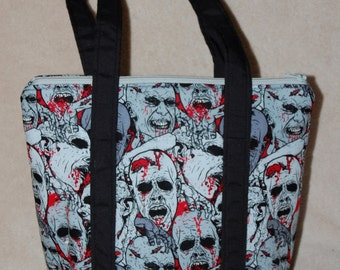 Zombie Faces Insulated Lunch Bag