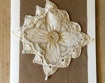 Linen and Lace Card