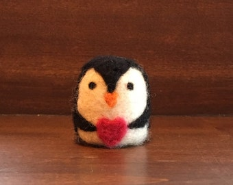 Wool Needle Felted Penguin