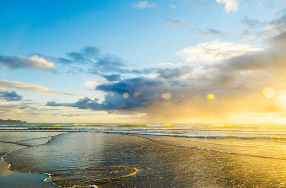 SPARKLY SUNRISE. Seascape Print, C Type Print, New Zealand art, Sunrise Picture, Photographic Print