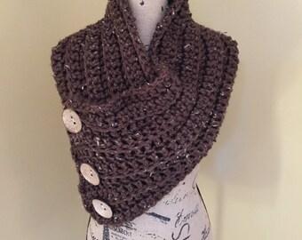 Handmade Ladies Brown Cowl