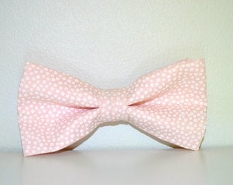 Blush Bow Tie For Boys And Men Bow Ties, Pink Bow Tie, Blush Pink Bow Tie, Wedding Bow Tie, Polka Dot Bow Tie