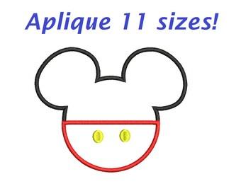 Mickey Applique Mickey Embroidery Designs Mickey Disney embroidery Machine 2