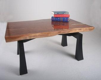 Walnut Wood Coffee Table Zen Inspired Series Claro Walnut Live Edge Table
