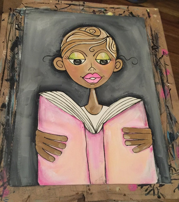 Book Cover Watercolor Paintings : Personalized book cover original painting