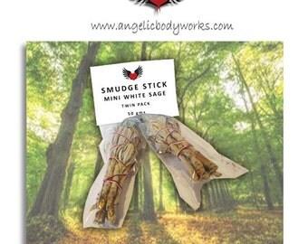 Mini White Sage Smudge Sticks - Pack of 2