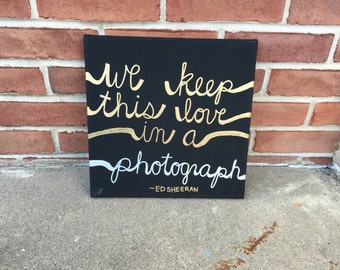 Photograph Ed Sheeran Canvas Art