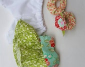 Tilda Sweetheart doll clothes, Christmas gift, outfit for doll, green,mint, white and red, easy to use, child friendly, made in USA