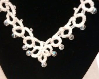 Tatted Necklace with beads