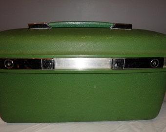 Vintage Green Samsonite Saturn Train Case