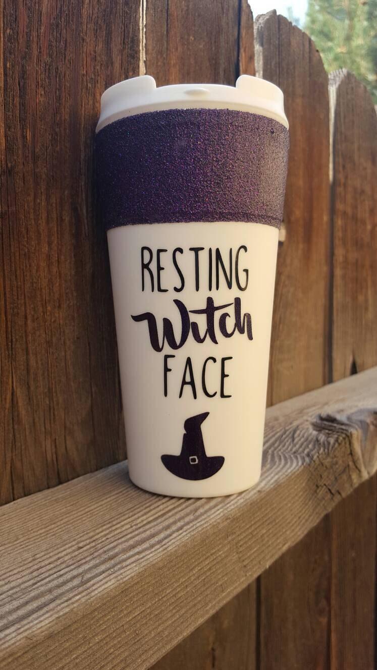 Resting Witch Face Travel Mug Fall Mug Funny Mug By