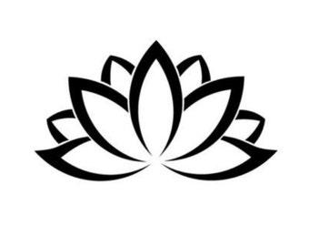 Petite Lotus Flower Decal Sticker- FREE SHIPPING