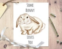 Some bunny loves you, rabbit picture, anniversary gift, nursery print, wife gift, husband gift, quote print, nursery print, nursery art
