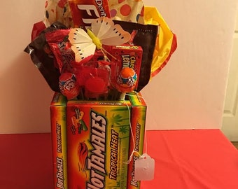 Hot Tamale Candy Vase