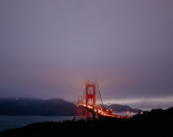 Gloomy SF Sunset
