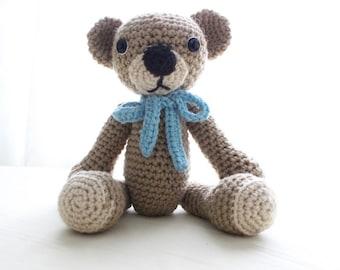 Adorable Crocheted Teddy Bear!