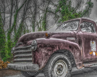 Old Red Chevy, Chevrolet, Wrinkled Egg, Flat Rock, North Carolina