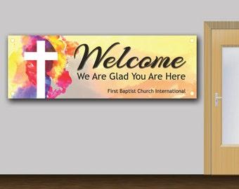 Welcome Church Banner - 2001