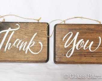 Handmade Thank You sign, Wood Thank You Sign, Wooden Thank You Sign, Thank You Photo Prop, Wood Thank You Photo Prop, Custom Thank You Sign