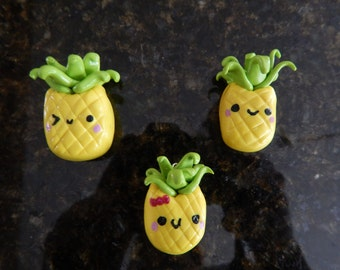 Pineapple polymer clay charm